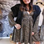 BOHÈME ❤️ Nouveau look pour l'arrivée des beaux jours ! La robe baby doll et le dernier kimono tricoté main, que vous pouvez trouver directement sur mon site 👆 . . . #robe #knitwear #knitting #handmade #unique #confection #creation #pieceunique #ethique #ethicalfashion #slowfashion #springoutfit #ruedesarts #toulon