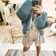CASUAL Et bohème à la fois ! Le croquis numéro 5 est cousu 👍 avec le Short -bohème et la Blouse -babydoll à retrouver directement sur nos portants ou le e shop ❤️ Et parce qu'il fait beau mais pas encore très chaud, on ajoute notre grosse maille tricotée main, look #boho assuré ! . . . #outfit #ootd #lookinspiration #lookoftheday #tenuedujour #mode #modefemme #fashionbrand #ethicalfashion #springclothes #springsummer #collection #new #cousumain #selfdesigned #creatrice #toulon #ruedesarts